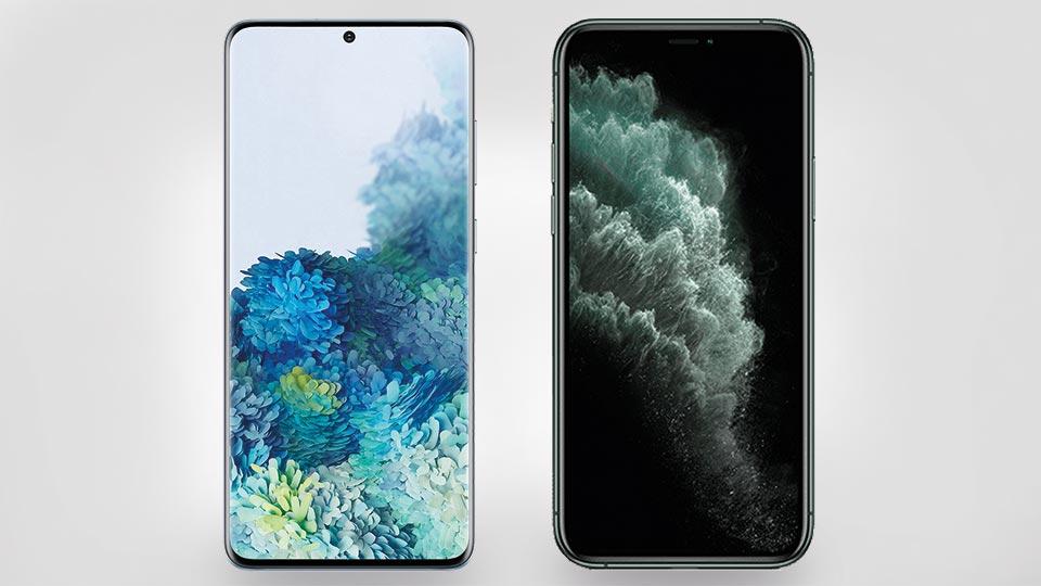 Galaxy S20 Plus vs. iPhone 11 Pro