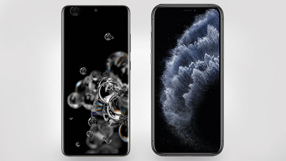 Galaxy S20 Ultra 5G vs. iPhone 11 Pro Max - Designvergleich
