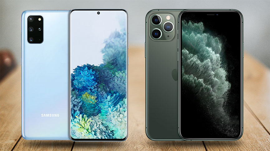 Galaxy S20+ vs. iPhone 11 Pro