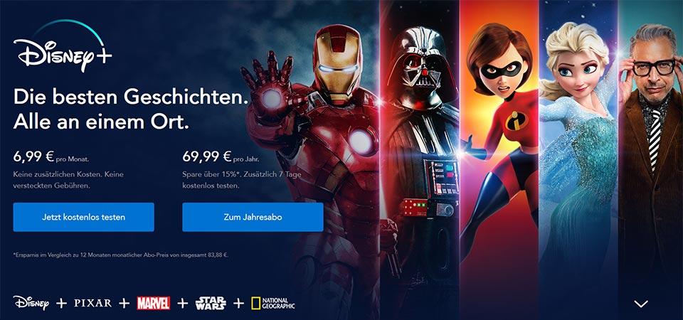 Preisübersicht Disney Plus