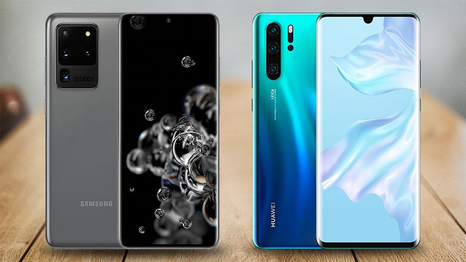 Galaxy S20 Ultra 5G vs. Huawei P30 Pro