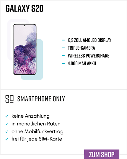 Samsung Galaxy S20 Ratenkauf