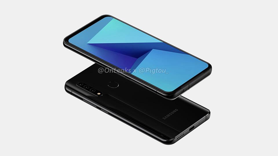 Samsung Smartphone mit Pop-Up-Kamera