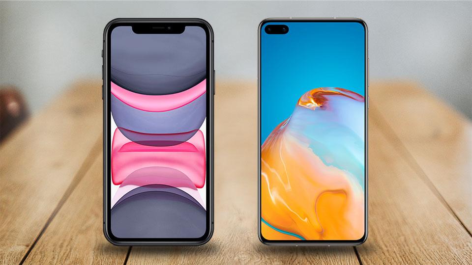 Huawei P40 vs. iPhone 11