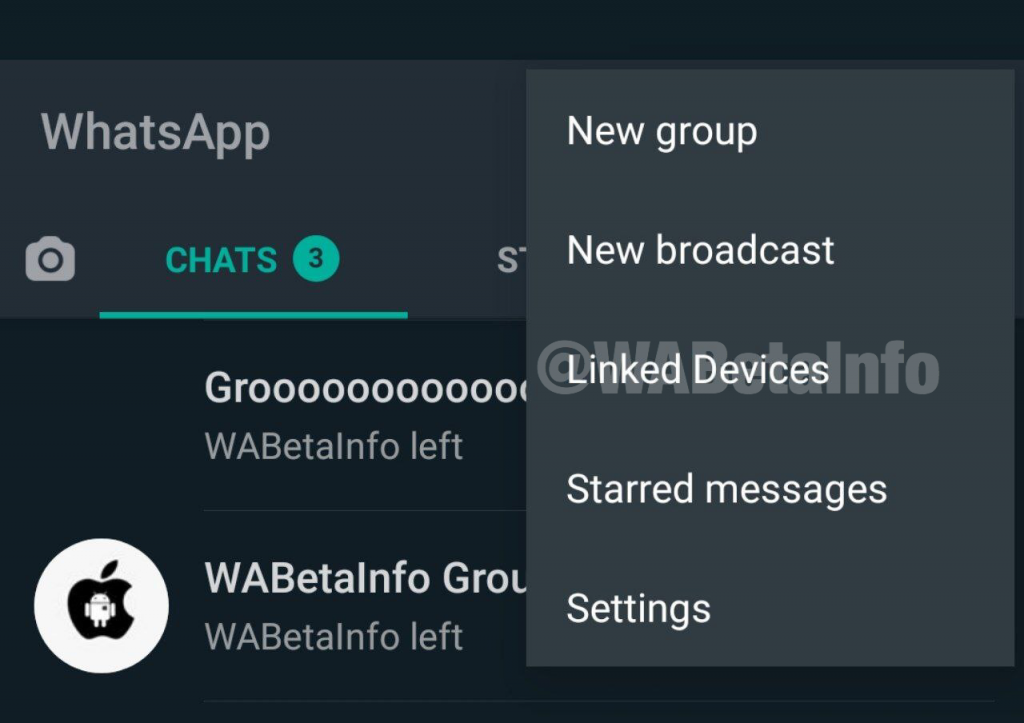 WhatsApp Menü Linked Devices