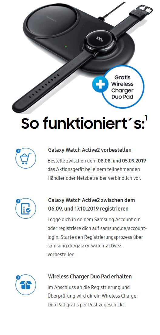 Galaxy Watch Active2 Aktion