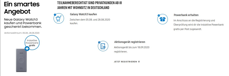 Samsung Galaxy Watch3 Aktion