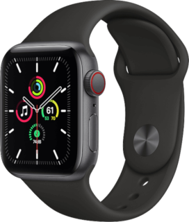 Apple Watch SE (GPS + Cellular) Aluminium Space Grau
