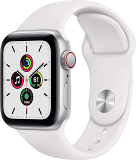 Apple Watch SE (GPS + Cellular) Aluminium Silber