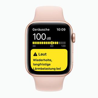 Apple Watch Series 5 Lautstärke-Messung