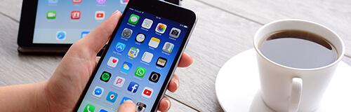 Handy mit vielen Apps