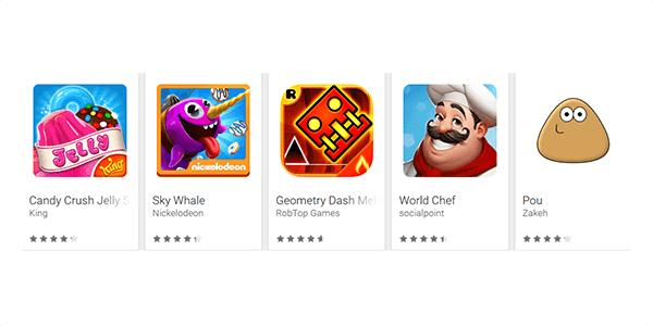 Gratis-Spiele im Google PlayStore