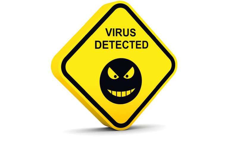 Schild: Virus erkannt