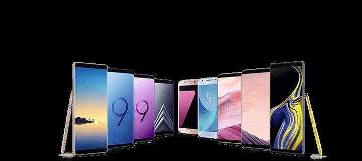 Verschiedene Samsung Handys