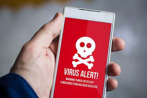 Virenwarnung auf dem Handy
