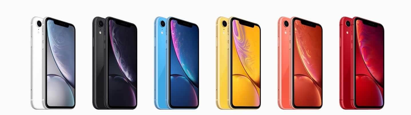 iPhone XR in allen Farben