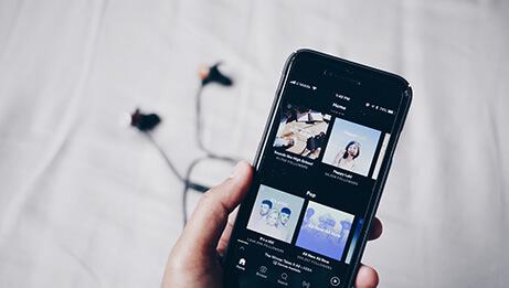 Handy mit Musik App