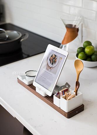 Tablet in der Küche