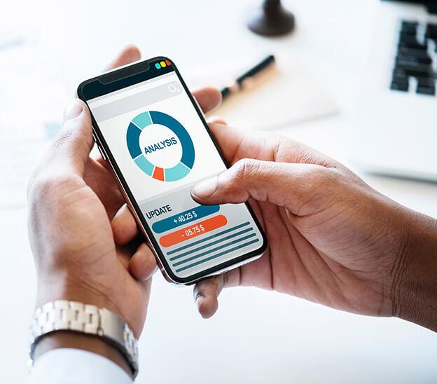 Analyseapp auf dem Handy