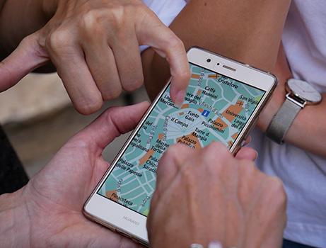 Navigationsapp auf dem Handy