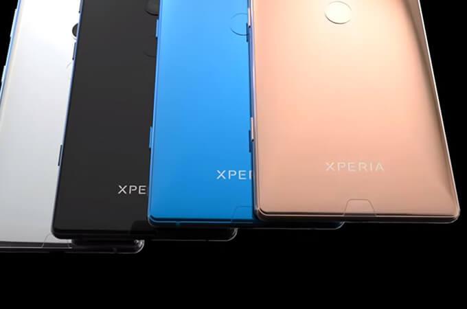 Farben des Sony Xperia XZ3