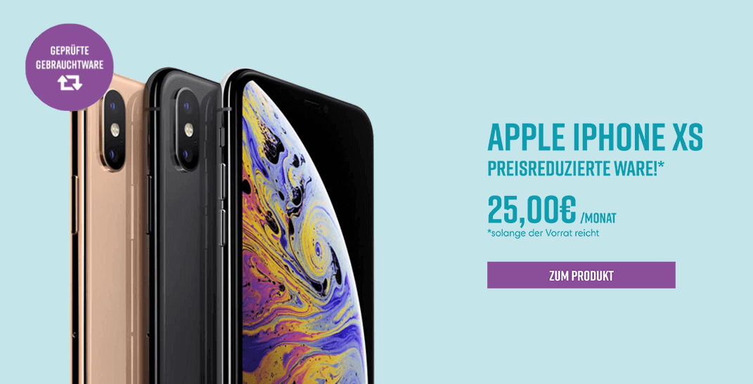 Apple iPhone XS Aktion - Preisreduziert!